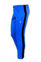Kız Çocuk Mavi Sporcu Eşofman Altı Siyah Şerit