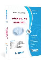 Aöf Türk Dili Ve Edebiyatı 1. Sınıf 1. Yarıyıl Güz Dönemi Egem Yayınları