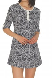 Kadın Tunik Ev Elbisesi 3 4kol