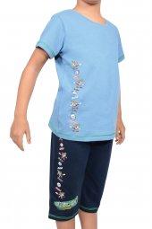 Erkek Çocuk Kapri Bermuda Pijama Takımı Kısa Kollu Pamuk