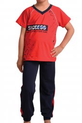 Erkek Çocuk Pijama Takımı Kısa Kollu Pamuk Garson