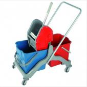 Temizlik Arabası Temizlik Seti Plastik Çift Kovalı Lüx Presli
