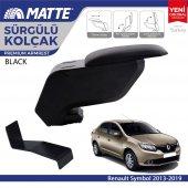 Matte Renault Symbol 2013 2019 Delmesiz Çelik Ayaklı Siyah Kolçak Kol Dayama