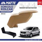 Matte Dacia Sandero 2012 2019 Delmesiz Çelik Ayaklı Bej Kolçak Kol Dayama