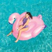 Bestway Yüzen Ada Şişme Binici Flamingo Lüks Deniz Yatağı 174x170