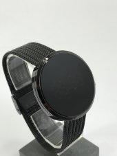 Yeni Model Gümüş Renk Led Watch Dijital Siyah Kasa Unisex Saat