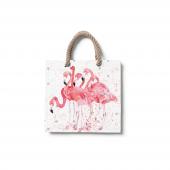 Dijital Baskılı Flamingo Desenli Plaj Çantası Çnt1...