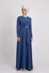 Puane Kadın İndigo Elbise 12109