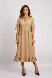 Hotfashıon Kadın Camel Elbise 330026099