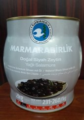 Marmarabirlik 2 Kg Siyah Zeytin 231 260 Kalibre