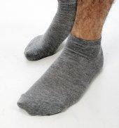 Deepsea Gri Koyu Kısa Erkek Patik Çorap 1906764