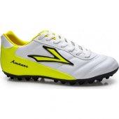 Lig Amanos Halı Saha Ayakkabısı Beyaz Sarı