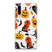 Huawei P30 Kılıf Silikon Arka Koruma Kapak Halloween Cadılar Bayr