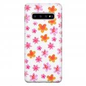 Samsung Galaxy S10 Plus Kılıf Silikon Arka Koruma Kapak Yaz Çiçek