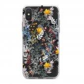 Apple İphone Xs Kılıf Silikon Arka Koruma Kapak Bahar Çiçekleri D