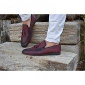 Shoes 201 Bordo Erkek Klasik Ayakkabı