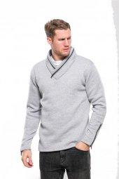 Karinmoda Fermuarlı Sweatshirt Yaka Ve Yan Bağcıklı Gri