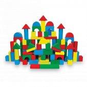 Woodoy 100 Parça Renkli Ahşap Bloklar