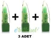 3 Adet Bio Asia Aloe Vera Özlü Dudak Lip Balm Dudak Nemlendirici Parlatıcılı