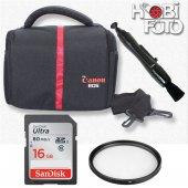 Canon 550d İçin Set Çanta+16 Gb Sd Class 10+ Lenspen+ Uv Filtre
