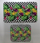 Jungle Klozet Takımı 3d Tasarım Çiçek
