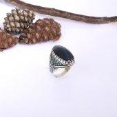 925 Ayar Gümüş Katalin Doğal Taşlı Nano Taş İşlemeli Yüzük