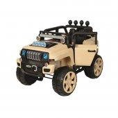 Oyuncak Akülü Safari Jeep Bej