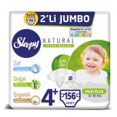 Sleepy Natural Bebek Bezi 4+ Beden Maxi Plus 3x2li Jumbo 156 Adet