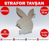 Strafor Sepeti Strafor Tavşan 30 Cm Boyasız, Strafor Dekor, Strafor Parti, Strafor Doğum Günü