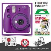 Fujifilm İnstax Mini 9 +10'lu Film+askı (Mor)