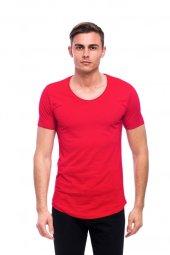 Bisiklet Yaka Kırmızı Erkek Tişört