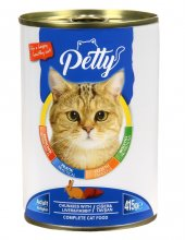 Petty Ciğer Tavşanlı Kedi Konservesi 24 Adet X 415 Gr