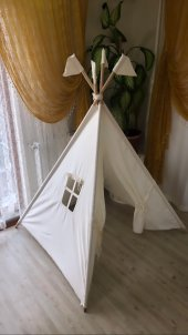 çocuk Oyun Ve Fotoğraf Çekim Çadırı Mindersiz...