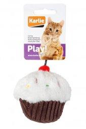 Karlie Peluş Kedi Oyuncağı Kek Beyaz Kahverengi 11,5 Cm