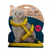 Ans Kedi Göğüs Bel Tasması Sarı