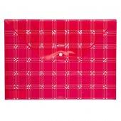 Bigpoint Çıtçıtlı Dosya Desenli A4 Kırmızı