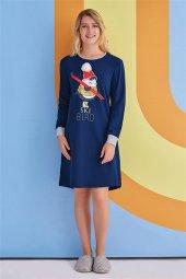 Roly Poly Kadın Lacivert Gecelik Elbise 1363