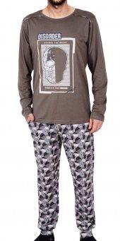 Erkek Pijama Takımı Uzun Kollu Cepli Pamuk