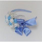 Azebu Çiçekli Lohusa Tacı Mavi