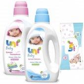 Uni Baby Çamaşır Deterjanı 1500ml Yumuşatıcı 1800ml Islak Mendil