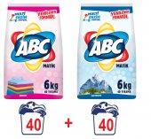 Abc Matik Toz Çamaşır Deterjanı Renkliler Beyazlar 6kg X2