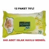Komili Soft Islak Bebek Havlu Mendil Hassas Sensitive 70x12