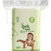 Ipek Organik Pamuk Bebek Temizleme Pamuğu 60lı