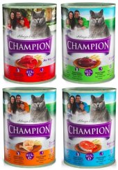 Champion Karışık Kedi Konservesi 12 Adet X 415 Gr