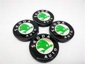 Skoda Yesil Logo 52.3mm Jant Göbek Kapağı