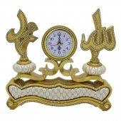 Sarı Ayetli Allah Muhammet Desenli Saat