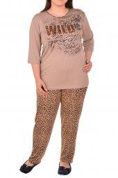 Kadın Pijama Takımı 3 4 Kol Büyük Beden