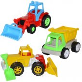 106st Üçlü Set Kamyon Dozer Traktor