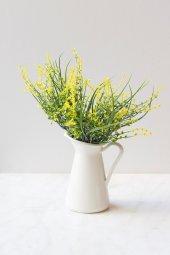 Italyan Saksıda Sarı Narkissos Yapay Çiçek
