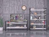 Metal Kitaplık + Tv Ünitesi 2 Renk Seçenekli Ücretsiz Kargo